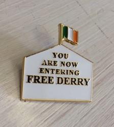Free Derry enamel Badge
