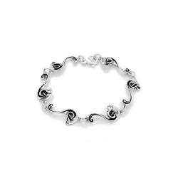 Calla Lily Silver Bracelet