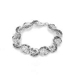 Sterling Silver Grape Leaf Bracelet