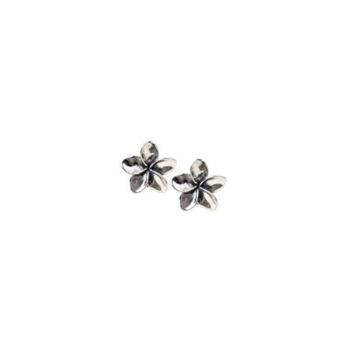 Silver Plumeria Earrings