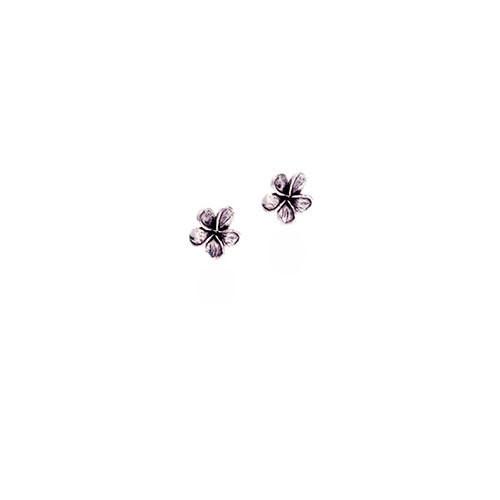Plumeria Earrings Sterling Silver