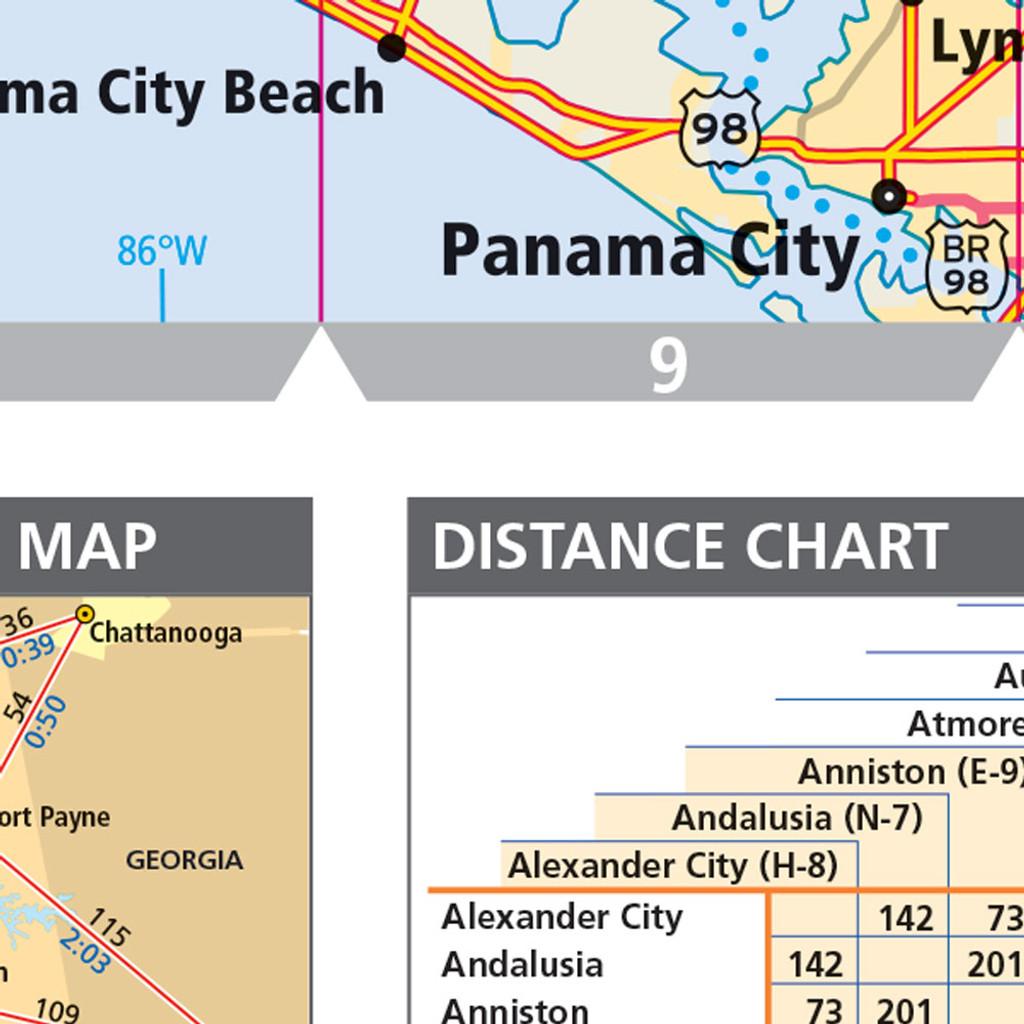 Rand McNally Alabama State Wall Map - Alabama state map cities