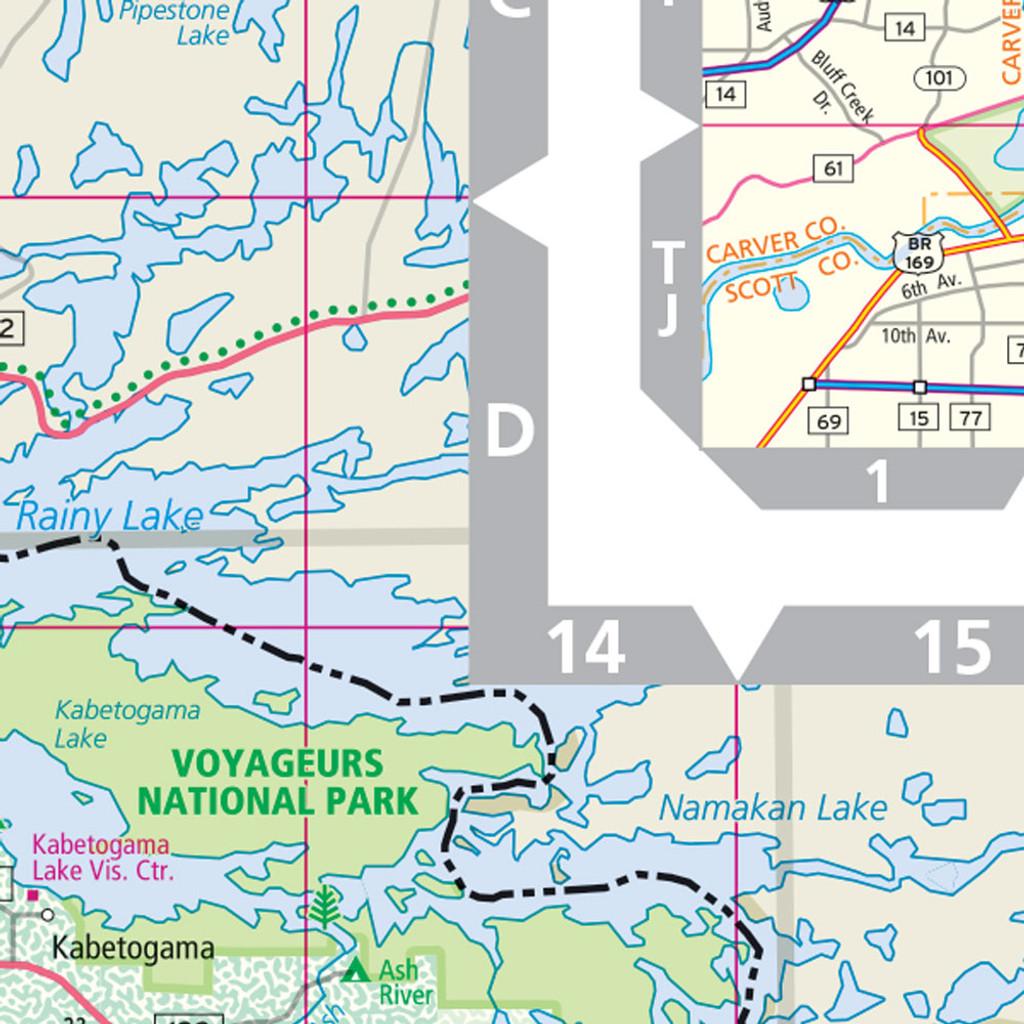 Rand McNally Minnesota State Wall Map - Map minnesota