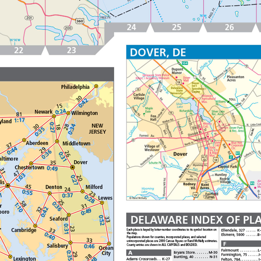 Rand McNally Maryland Delaware State Wall Map - Delaware state map