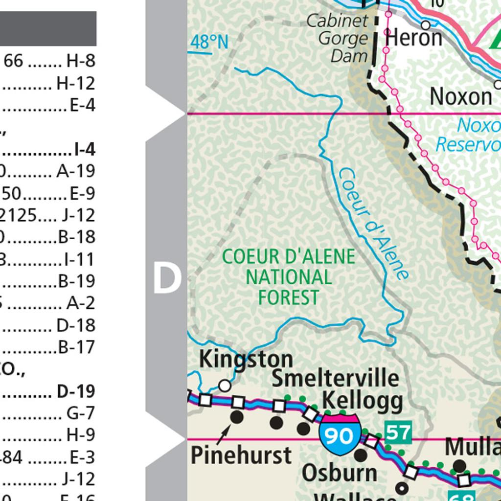 Rand McNally Montana State Wall Map - Map montana
