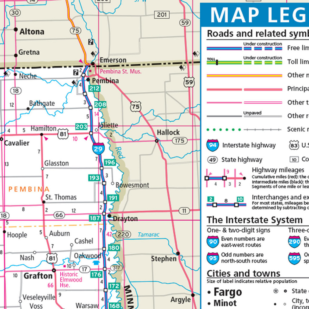 Rand McNally North Dakota State Wall Map - Maps of north dakota
