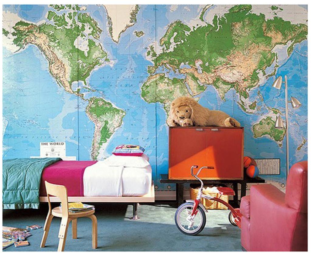 ... World Mural Wall Map: Laminated Part 84