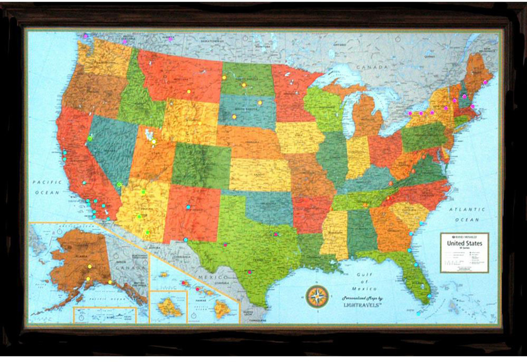 Lightravels Classic Edition Illuminated USA Wall Map - A usa map