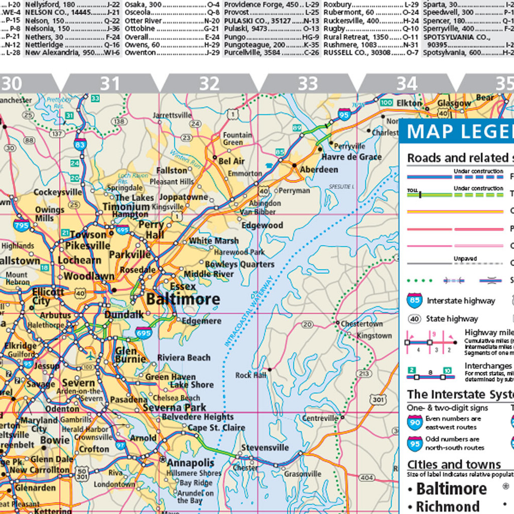 Rand McNally Virginia State Wall Map - State map of virginia