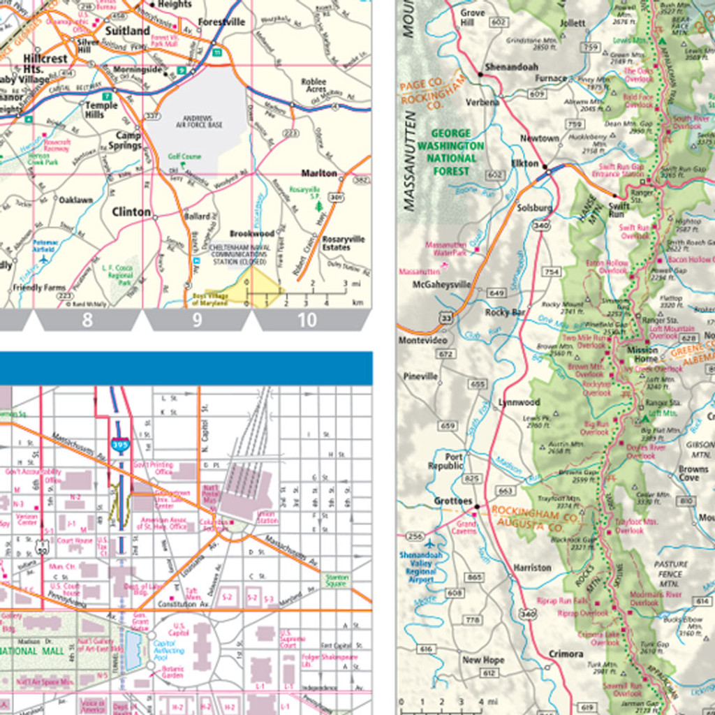 Rand McNally Virginia State Wall Map - Road map virginia