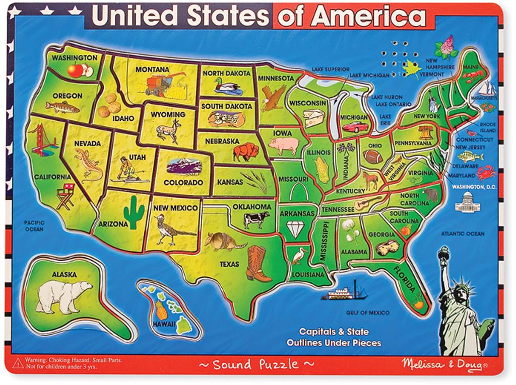 USA Map Sound Puzzle