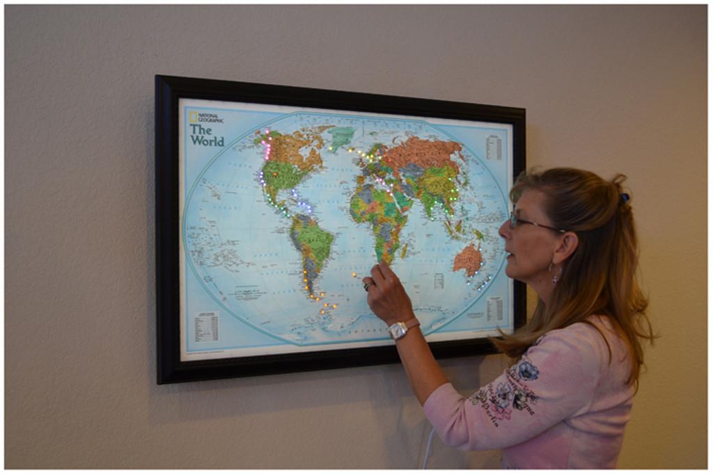 Lightravels World Explorer Map (Blue Oceans)