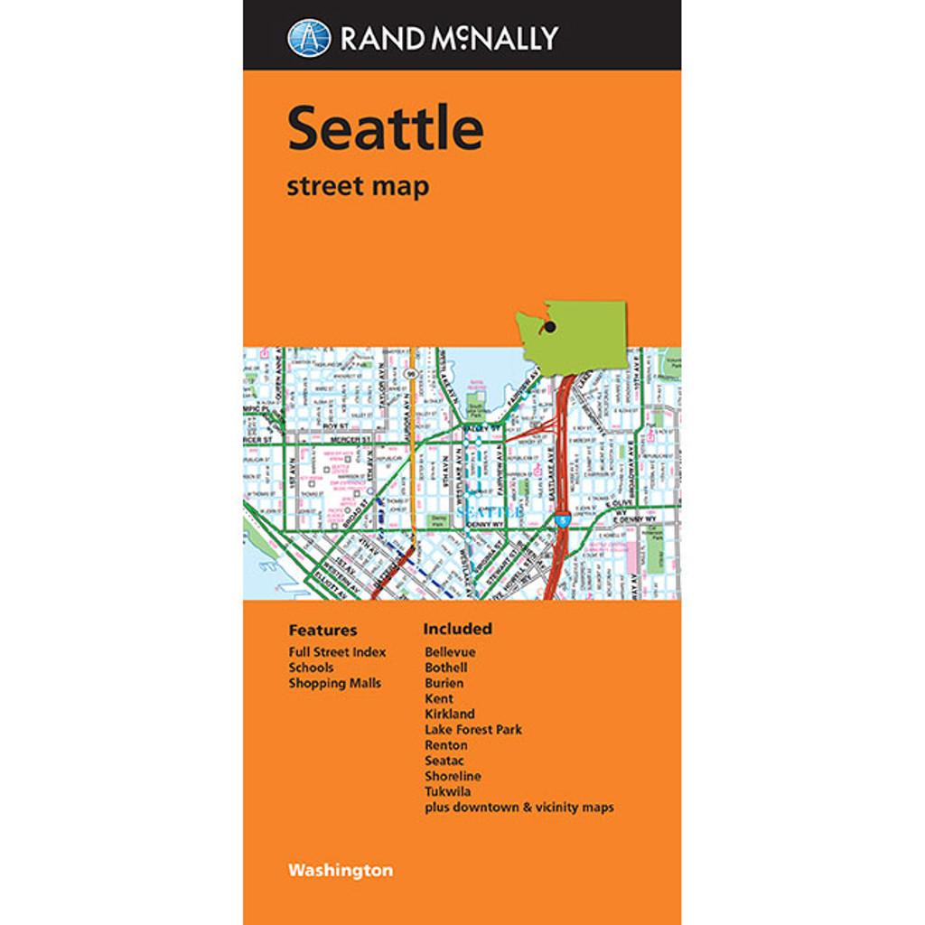 Folded Map Seattle
