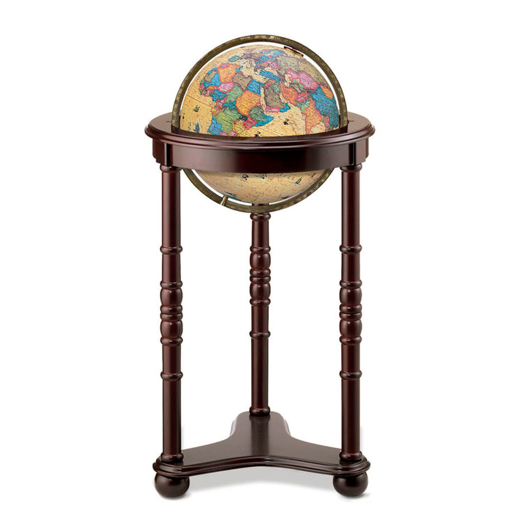 "Lancaster Antique Oceans 12"" Illuminated Floor Globe"