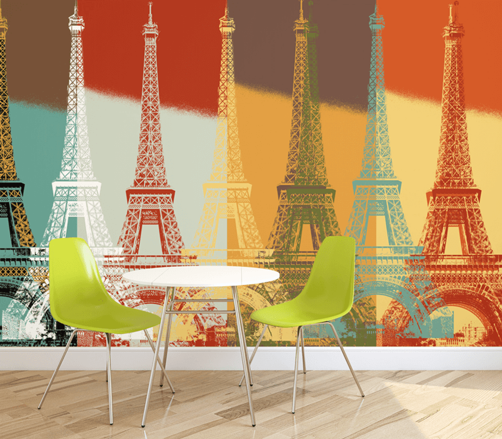 Eiffel Tower Wall Mural Part 60
