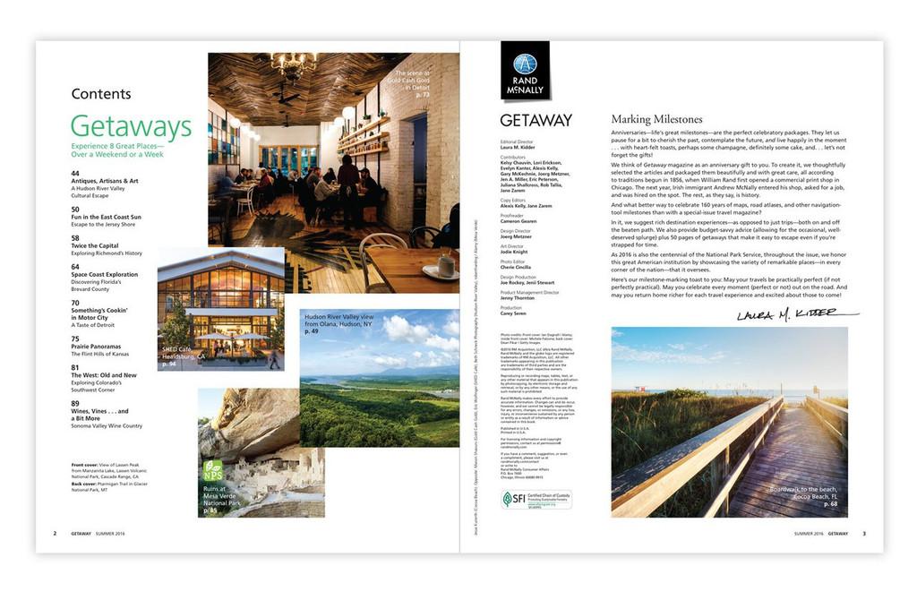 Getaway Special Edition Travel Magazine, Summer 2016