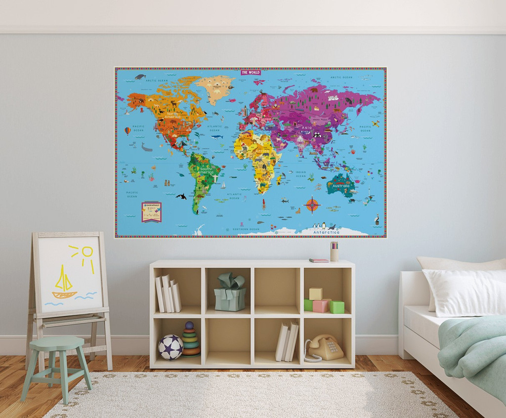 Kids' Illustrated Map of the World