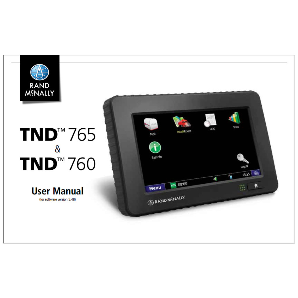 User Manual for TND 760 & 765