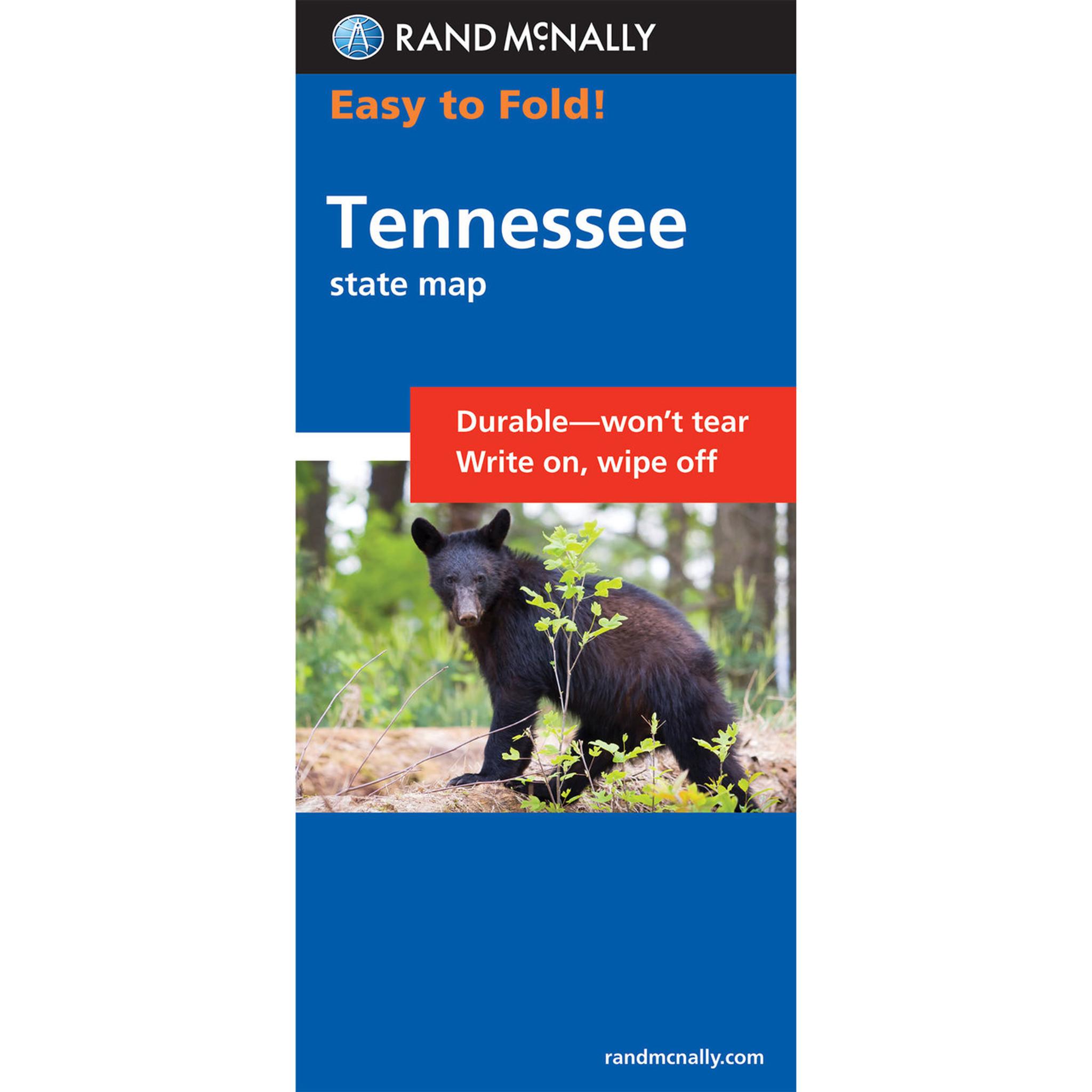 Rand McNally EasyToFold Map Tennessee - Laminated folding us map