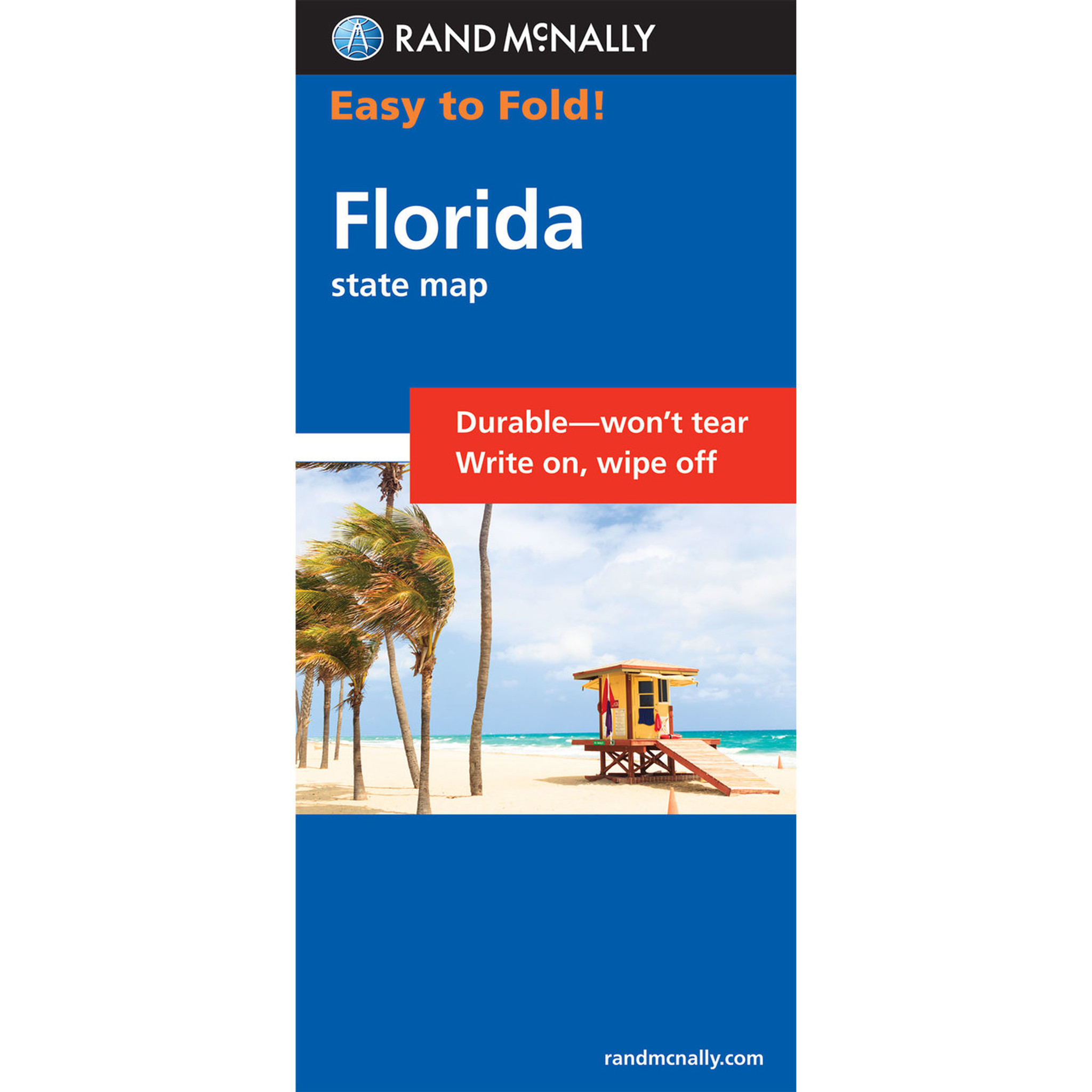 Rand McNally EasyToFold Map Florida - Laminated folding us map