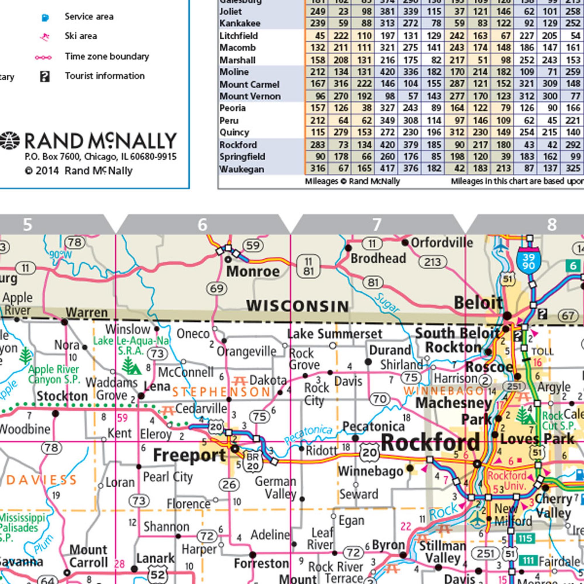 Rand McNally Illinois State Wall Map - Map illinois