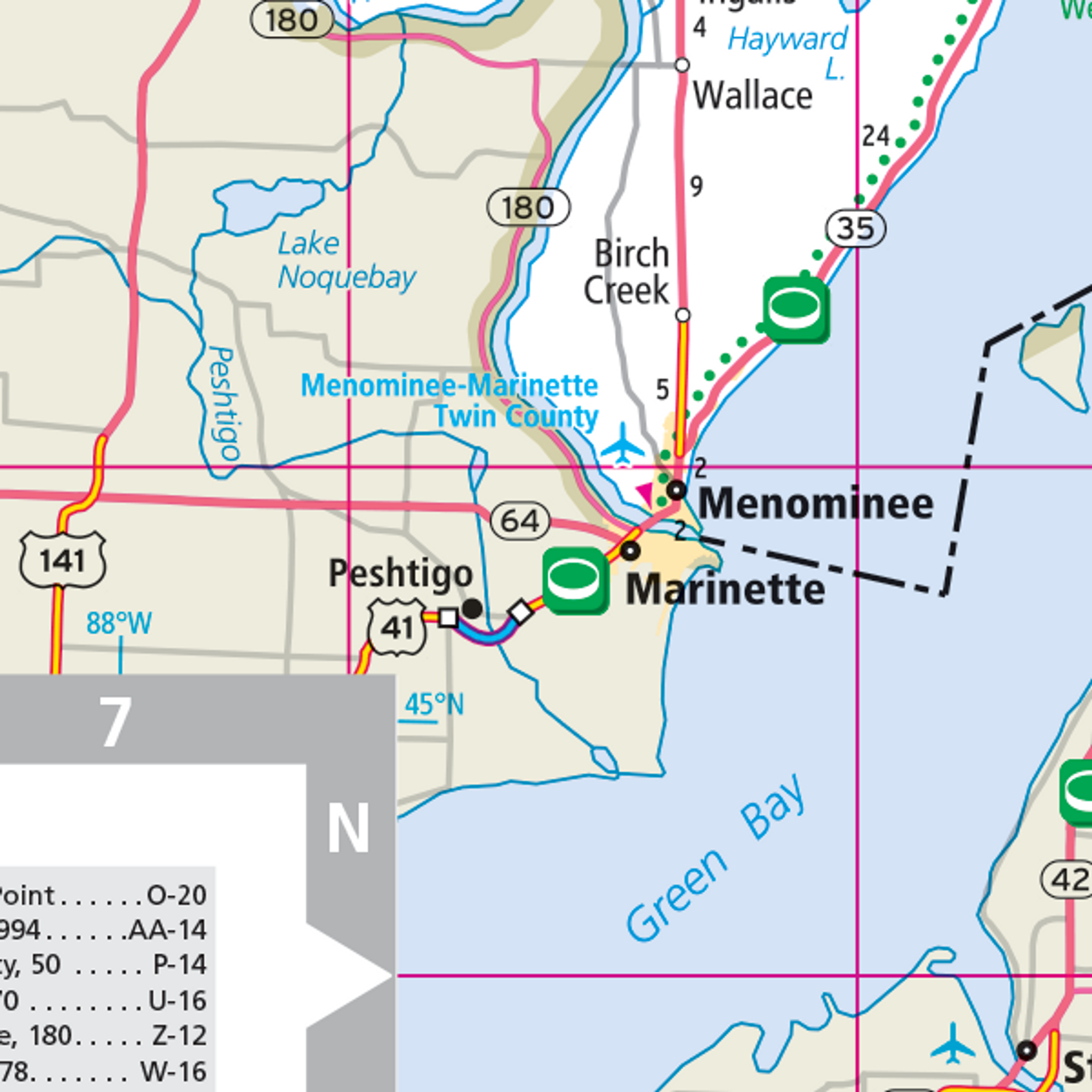 Rand McNally Michigan State Wall Map - Map of the state of michigan