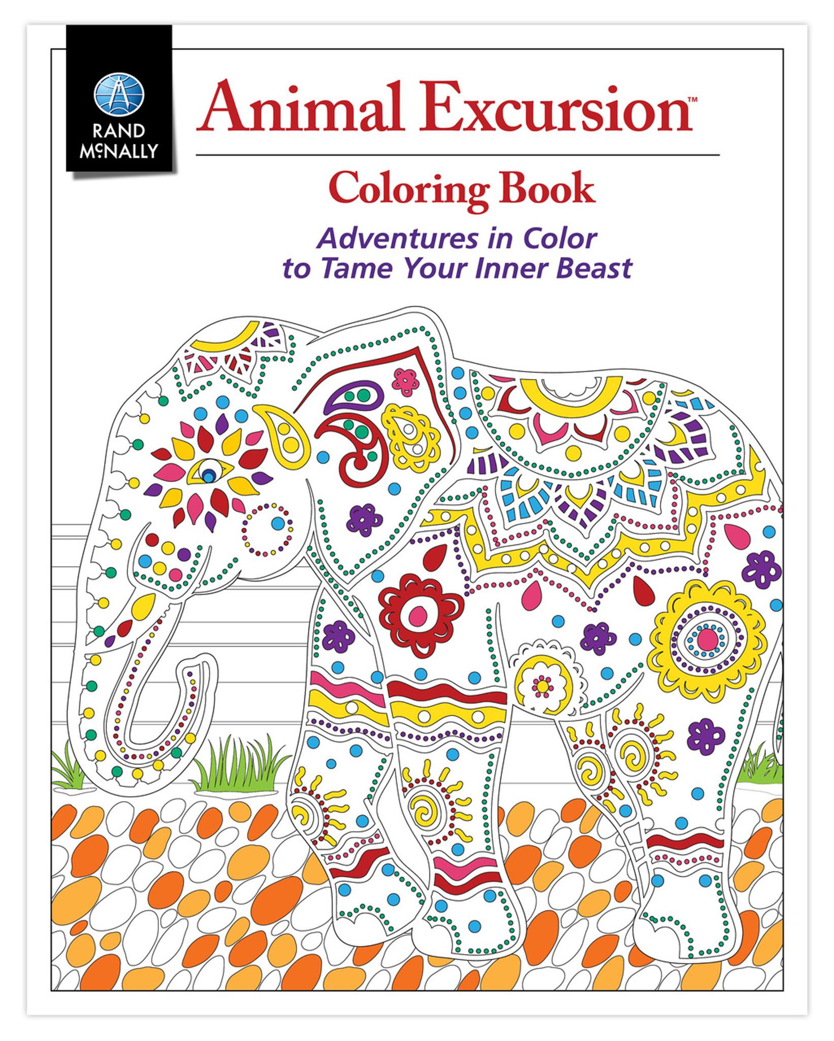 Book coloring - Animal Excursion Coloring Book
