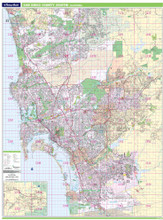 Thomas Bros. South San Diego County Wall Map