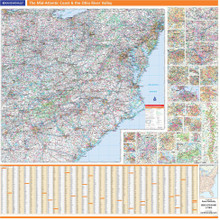 ProSeries Wall Map: Mid-Atlantic Coast & the Ohio River Valley