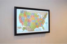 Lightravels United States Explorer Map (Blue Ocean)
