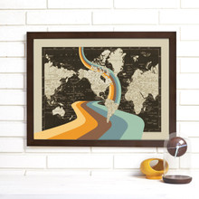 """""""Not All Who Wander Are Lost"""" Lithograph Wall Map"""