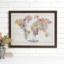 """Bouquet"" Lithograph Wall Map"