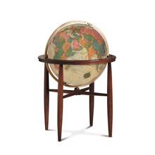 """Finley Antique Oceans 20"""" Illuminated Floor Globe"""