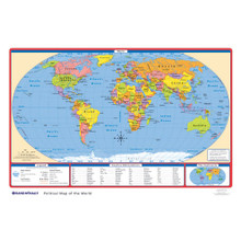 Political USWorld Desk Map Rand McNally Store - Us world map