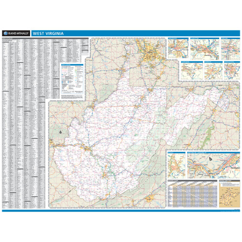 Rand McNally Virginia State Wall Map - Virginia maps state