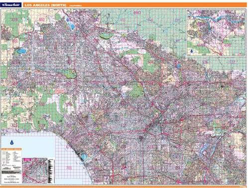 ProSeries Wall Map: North Los Angeles