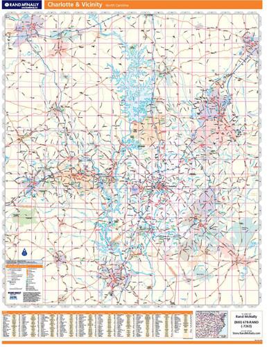 ProSeries Wall Map: Charlotte Regional