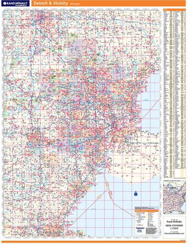Folded Maps Detroit Southeastern Michigan