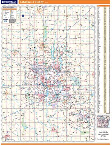 ProSeries Wall Map: Columbus Ohio Regional
