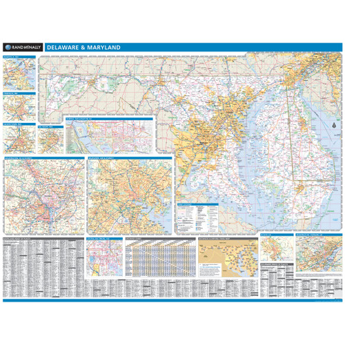 ProSeries Wall Map: Maryland, Delaware State