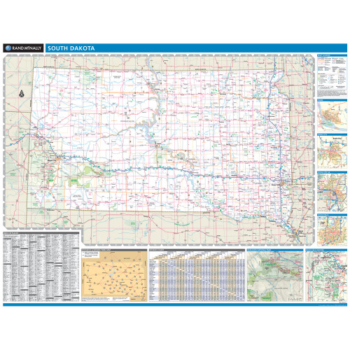 ProSeries Wall Map: South Dakota State