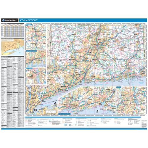 ProSeries Wall Map: Connecticut State