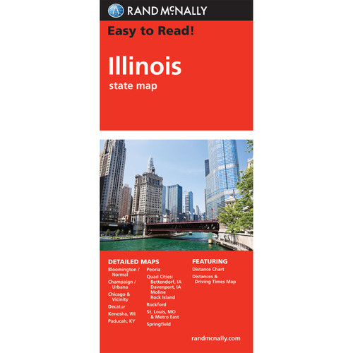 Easy To Read: Illinois State Map