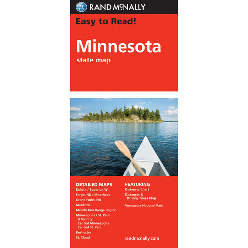 Easy To Read: Minnesota State Map