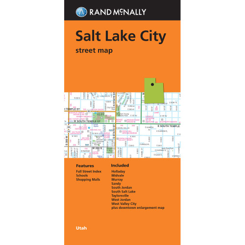 Folded Map: Salt Lake City Street Map