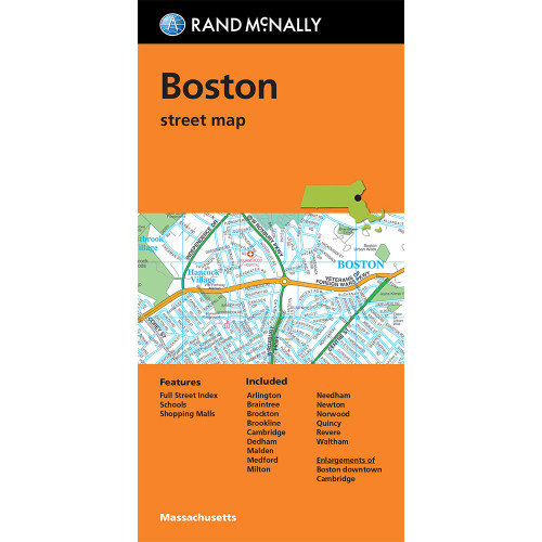Folded Map: Boston Street Map
