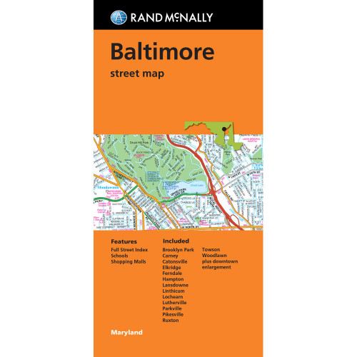 Folded Map: Baltimore Street Map