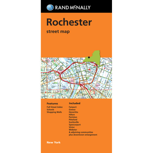 Folded Map: Rochester New York Street Map