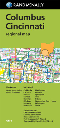 Maps atlases travel maps guides us maps guides page columbus cincinnati regional map sciox Image collections