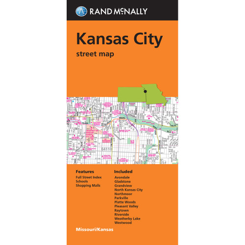 Folded Map: Kansas City Street Map